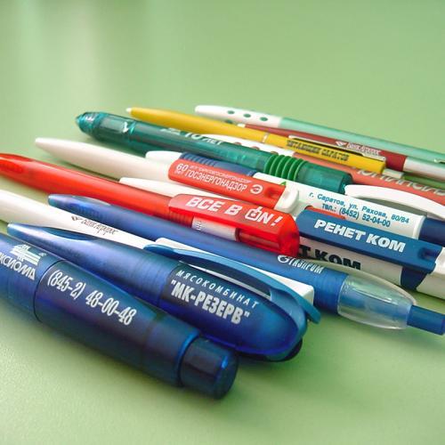 пластиковая ручка с логотипом