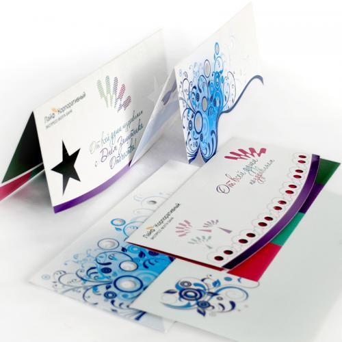 печать фирменных открыток